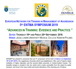 19-20 września 2019 r. European Network for Training in Manegement of Aggression 5 ENTMA SYPOSIUM 2019